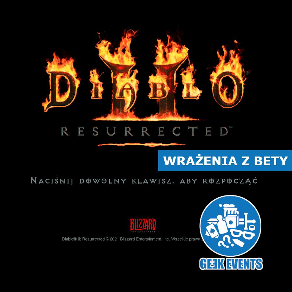 Read more about the article Diablo II Resurrected – nostalgiczne spojrzenie na betę